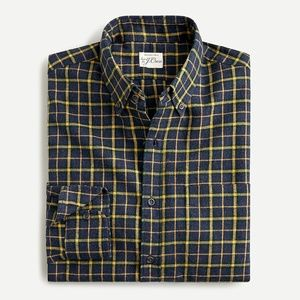 J.Crew Mens Brushed Twill Shirt in Plaid, Size M